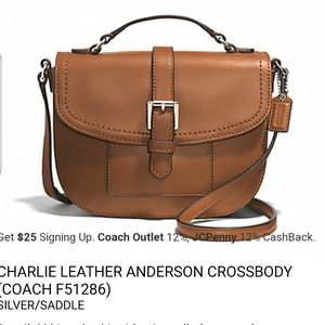 COACH Brown Charlie Leather Anderson Crossbody